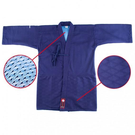 Kendo Gi Master 2.0 | Kendo Jacke Dunkelblau Indigo | Kendojacke mit Reiskornwebung